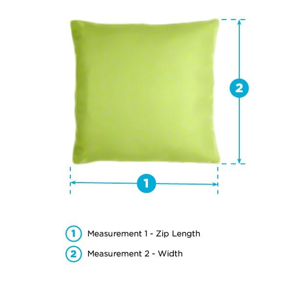 throw pillow measurements