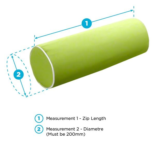 Bolster Image with measurements 2